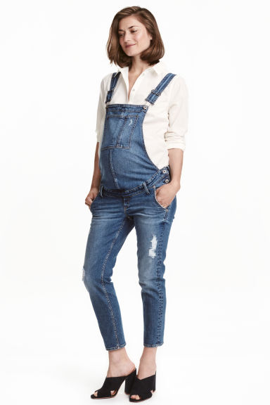 MAMA Denim dungarees - Denim blue - Ladies | H&M GB