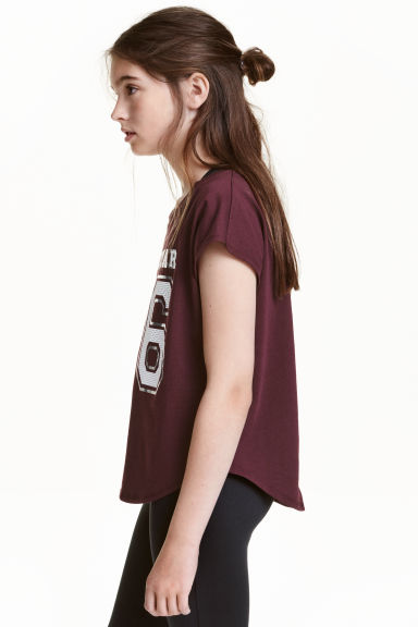 Sports top - Burgundy - Kids | H&M CN
