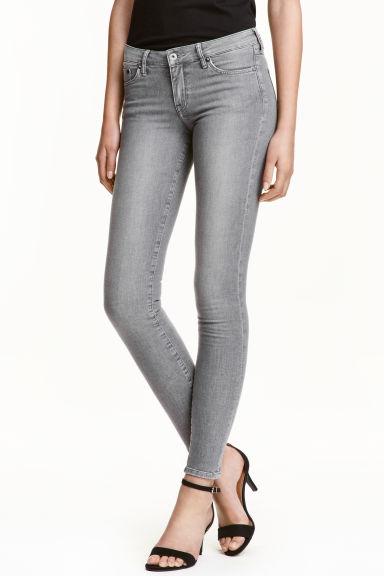 Super Skinny Low Jeans - Grå denim -  | H&M SE