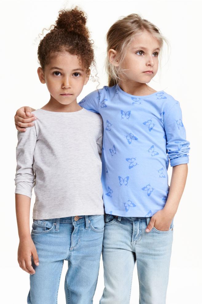 5081a5ae09 2 db-os felső szett - Világoskék/pillangós - GYEREK | H&M ...