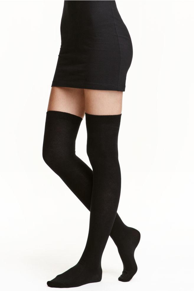 55c404401af Chaussettes hautes - Noir -