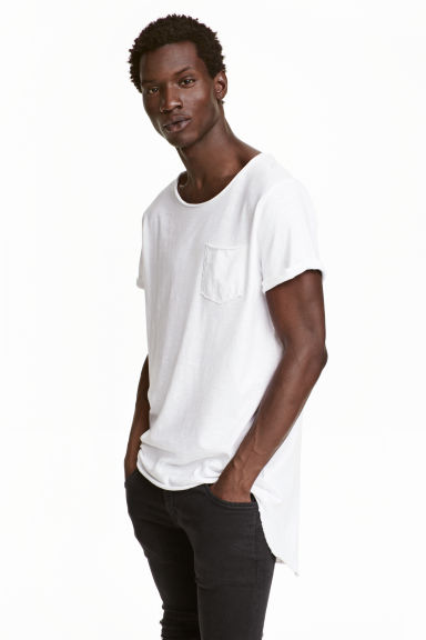 Long T-shirt - White - Men | H&M CN