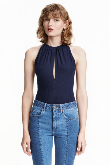 Lyocell body - Dark blue - Ladies | H&M CN