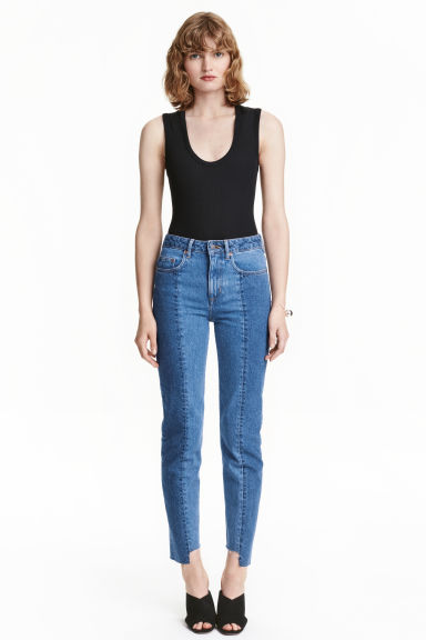 Slim Regular Ankle Jeans - Bleu denim - FEMME | H&M BE