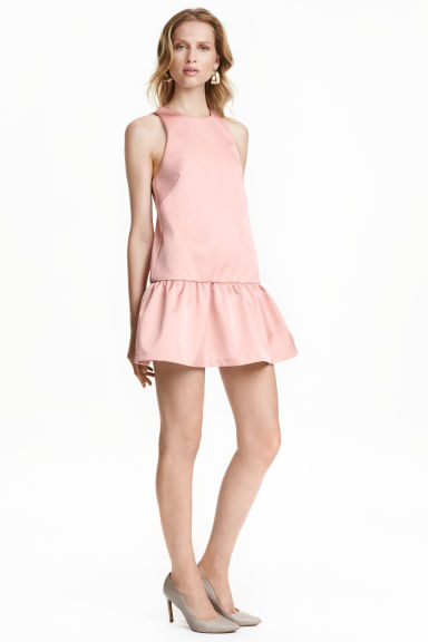 Satin dress - Powder pink -  | H&M