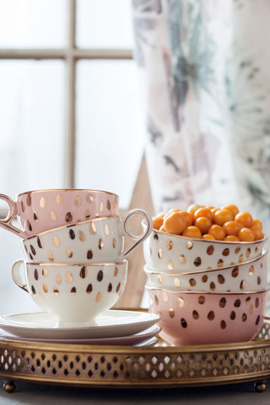 Petit bol en porcelaine - Vieux rose - Home All | H&M FR