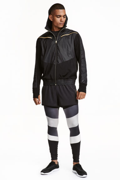 Running tights - Black/Grey - Men | H&M CN