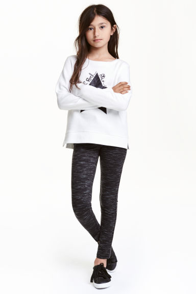 Treggings - Dark grey marl - Kids | H&M CN