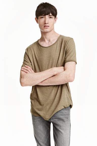 T-shirt - Khaki green - Men | H&M CN