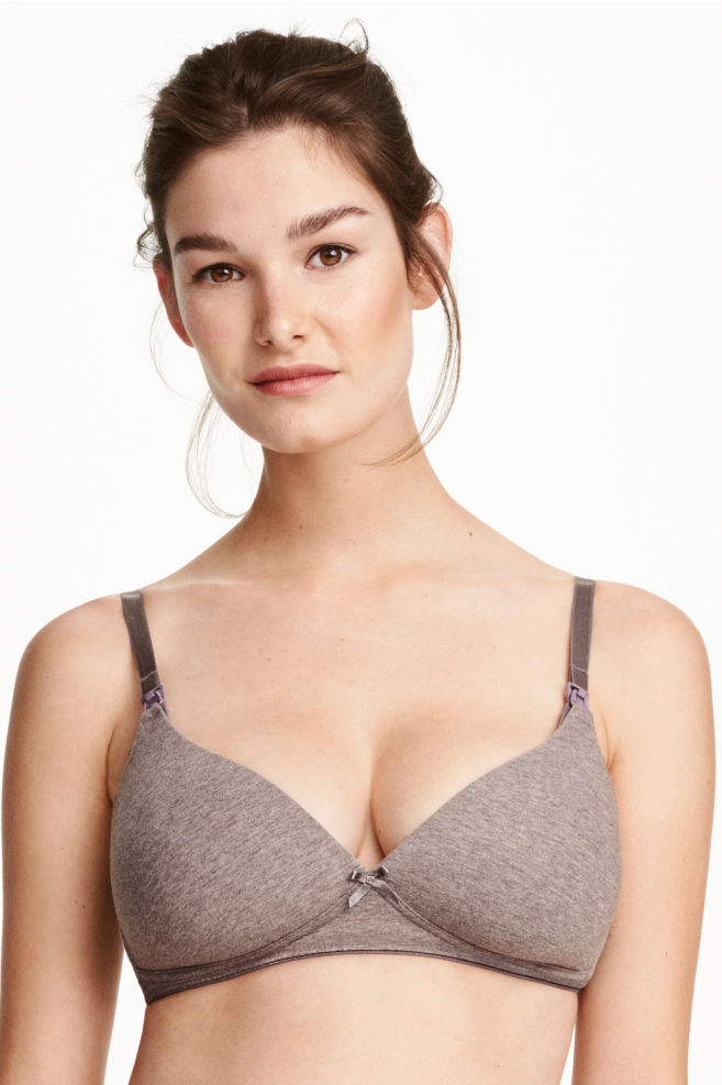 fdbe8a910 MAMA Cotton nursing bra - Mole - Ladies
