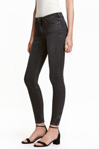 Skinny Low Ankle Jeans - Nearly black -  | H&M PT