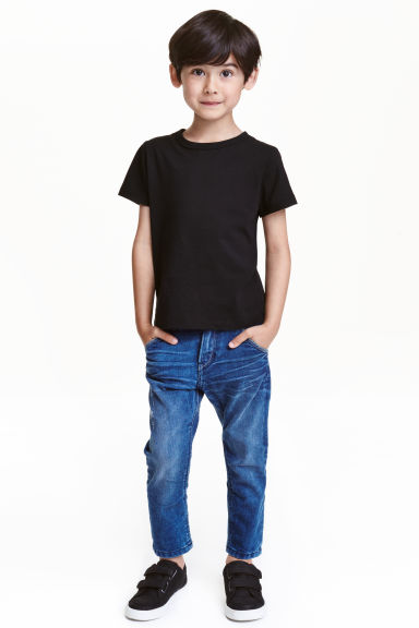 Tapered Worn Jeans - Blu denim - BAMBINO | H&M IT