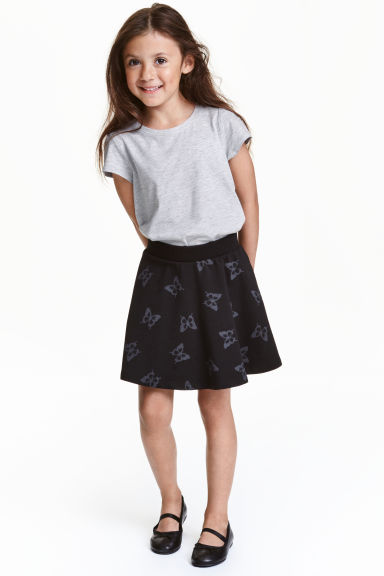 Circular skirt - Black/Butterfly - Kids | H&M CN