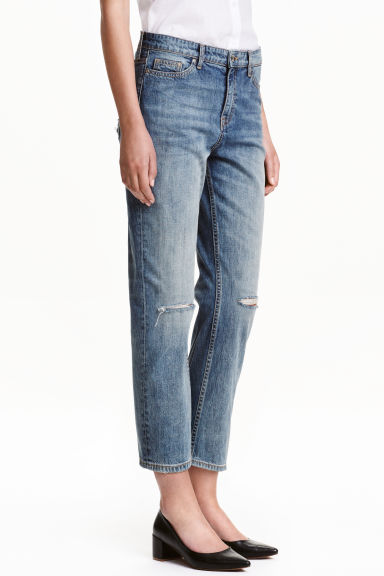 Straight Ankle Jeans - Bleu denim clair -  | H&M FR