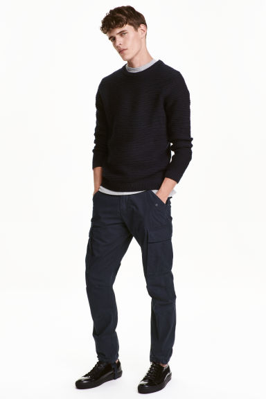 Cargo Pants - Dark blue -  | H&M CA