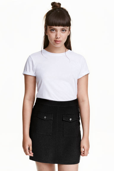 A-line skirt - Black -  | H&M GB