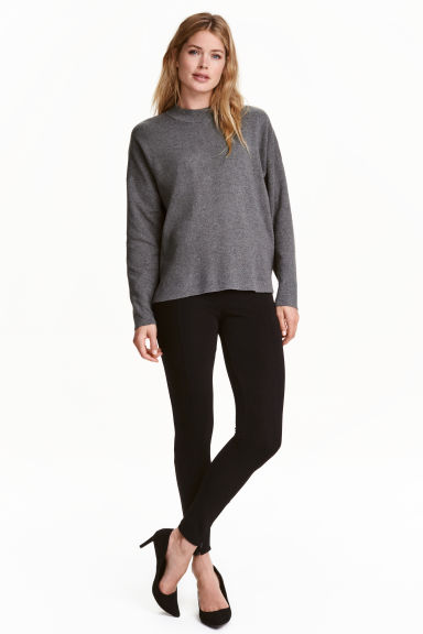 Leggings in jersey - Nero/cerniera - DONNA | H&M CH
