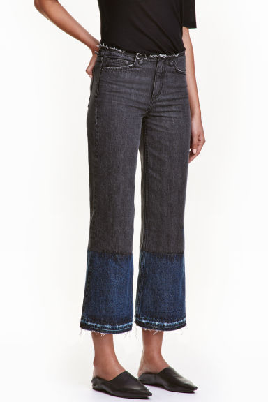 Wide Cropped Jeans - Denim negro -  | H&M ES