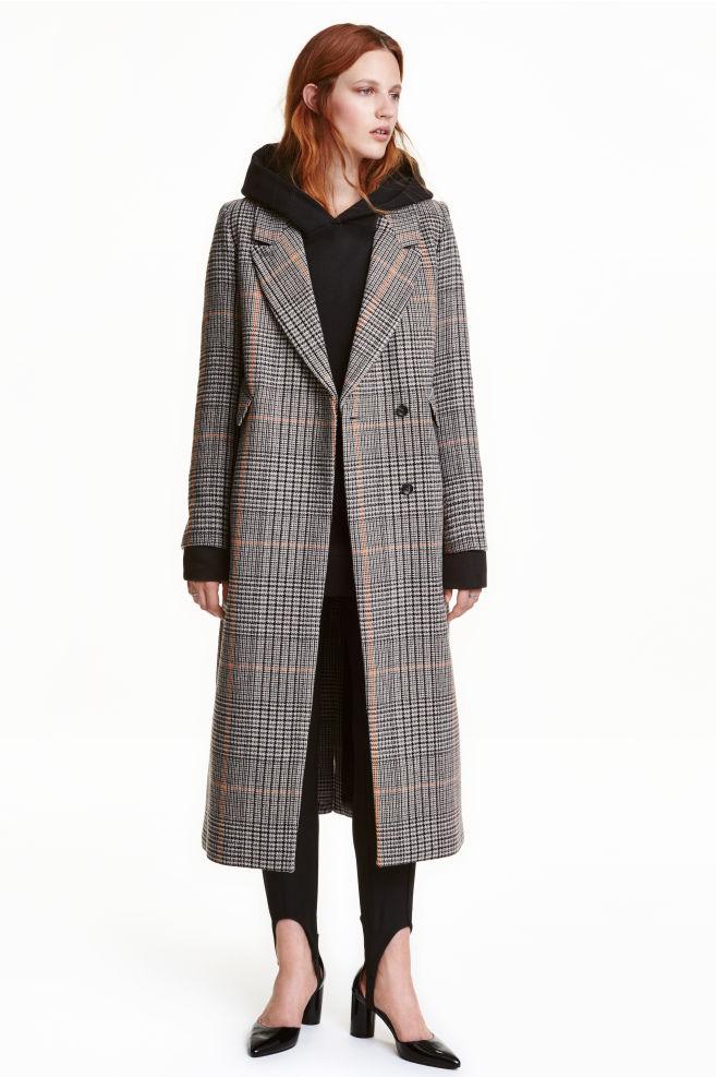ba66374169 Long wool-blend coat