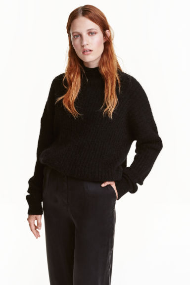 Mohair-blend jumper - Black - Ladies | H&M GB