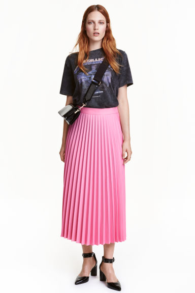 Pleated skirt - Pink - Ladies | H&M CA