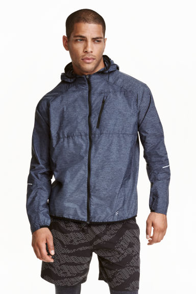 Running jacket - Dark blue marl - Men | H&M
