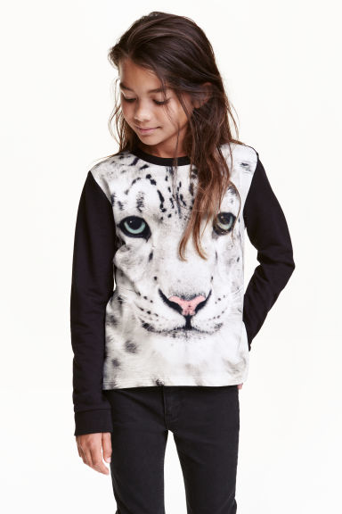 Printed sweatshirt - Black/WWF - Kids | H&M CN