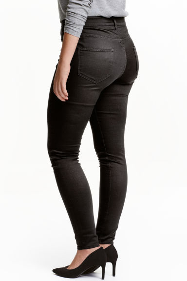 H&M+ Shaping Skinny Jeans - Black/Coated - Ladies | H&M