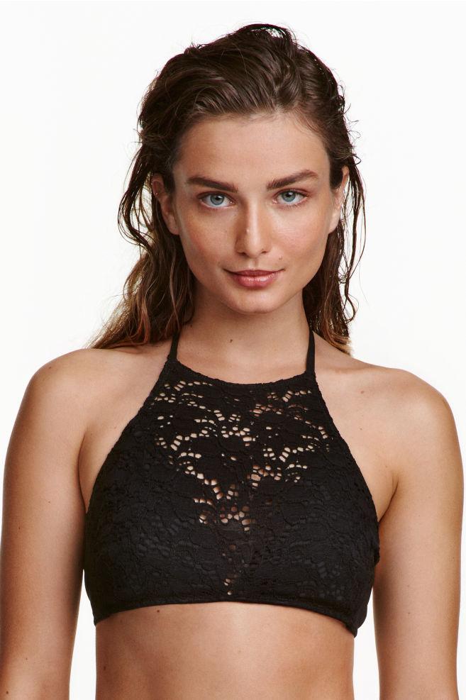 1a866f78c2a Lace bikini top - Black - | H&M ...