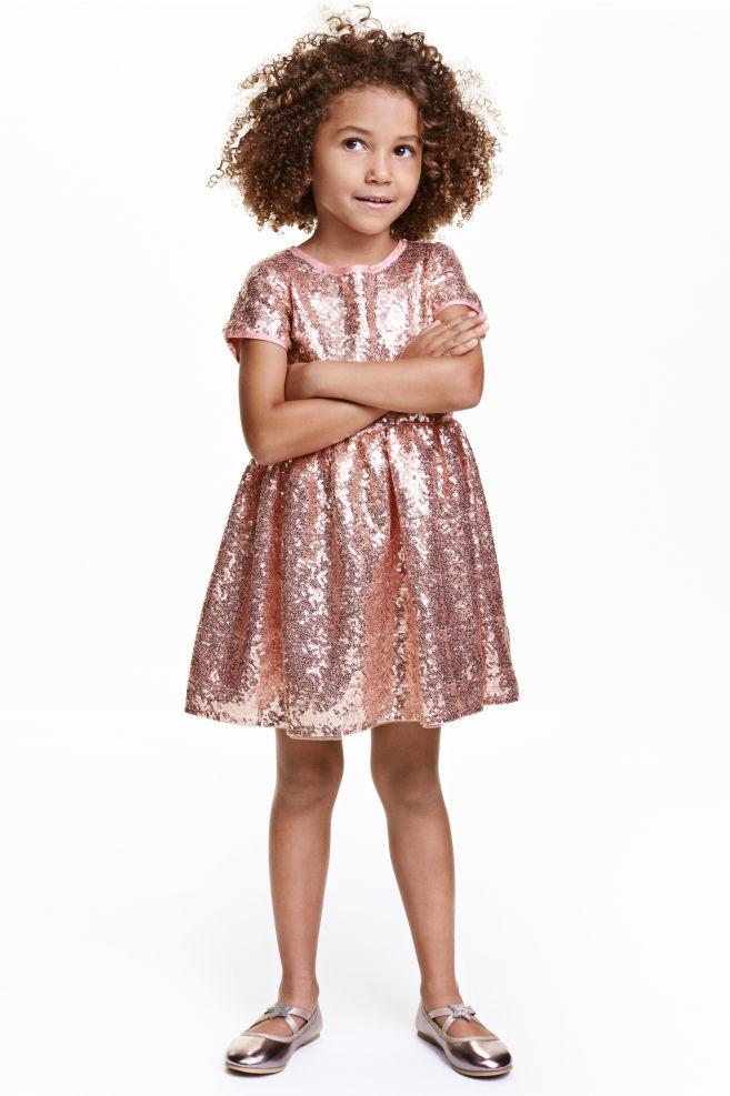 4efdebc632 Cekinowa sukienka - Różowy Złoty - Dziecko