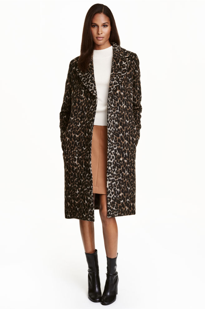 f8bf0b680692 Wool-blend coat - Leopard print - Ladies | H&M ...