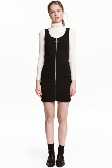 Zip dress - Black - Ladies | H&M CA