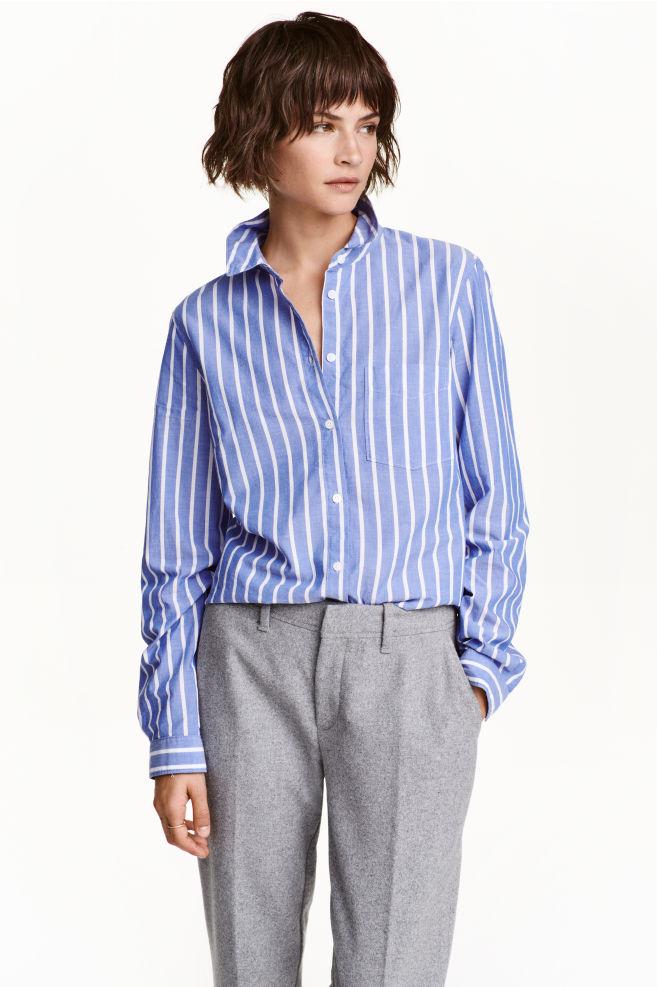 ac6afafe2959 Bavlnená košeľa - modrá pruhovaná - ŽENY