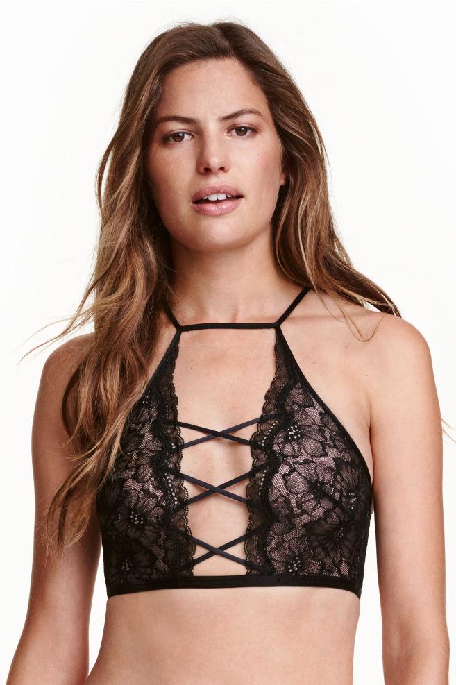 ca73272fdeb Lace bralette - Black - Ladies   H&M ...