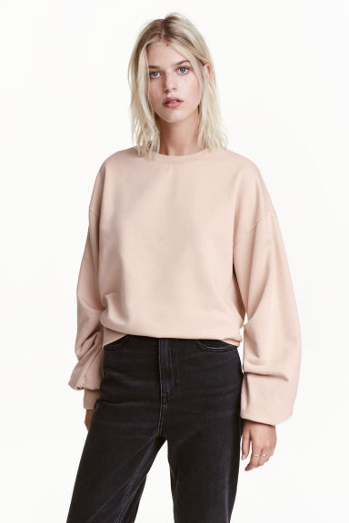 Sweat-shirt - Beige poudré -  | H&M BE