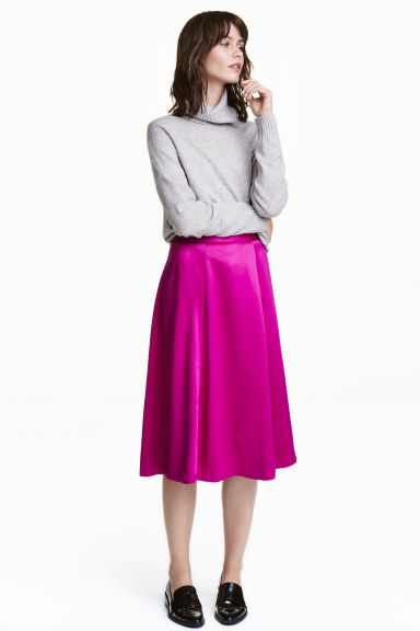 Satin skirt - Cerise - Ladies | H&M GB