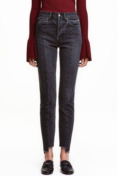 Vintage High Cropped Jeans - Negro washed out -  | H&M ES