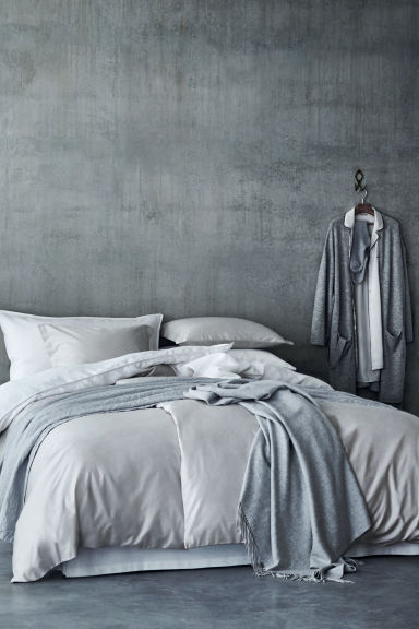 Wool blanket - Light grey marl - Home All | H&M GB