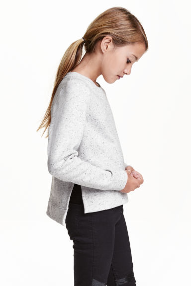 Sweat - Gris clair chiné -  | H&M CH