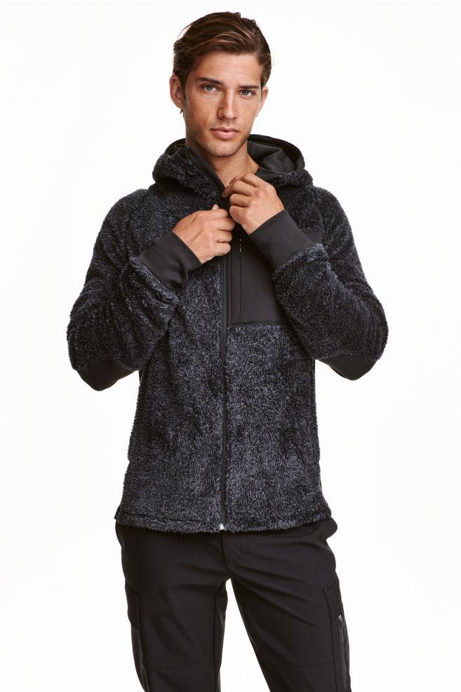 dc4b445758feb9 Fleece jacket - Dark grey - Men   H&M ...