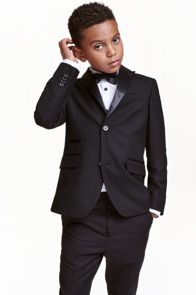 Jacket with satin details - Black - Kids | H&M CN