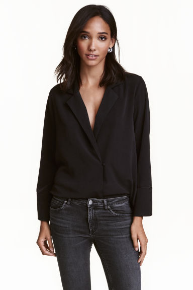 Crêpe blouse - Black - Ladies | H&M GB