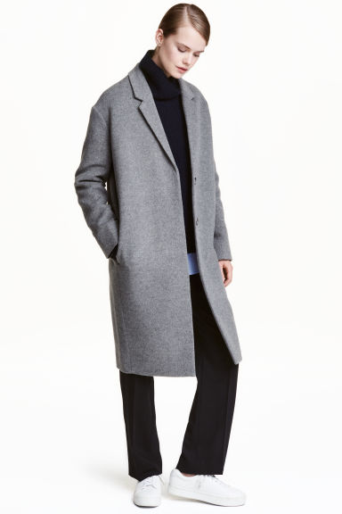 Cashmere-blend coat - Grey - Ladies | H&M GB
