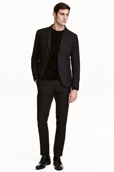 Tuxedo trousers - Black - Men | H&M GB