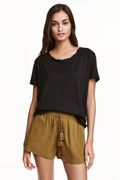 Jersey top - Black -  | H&M IE