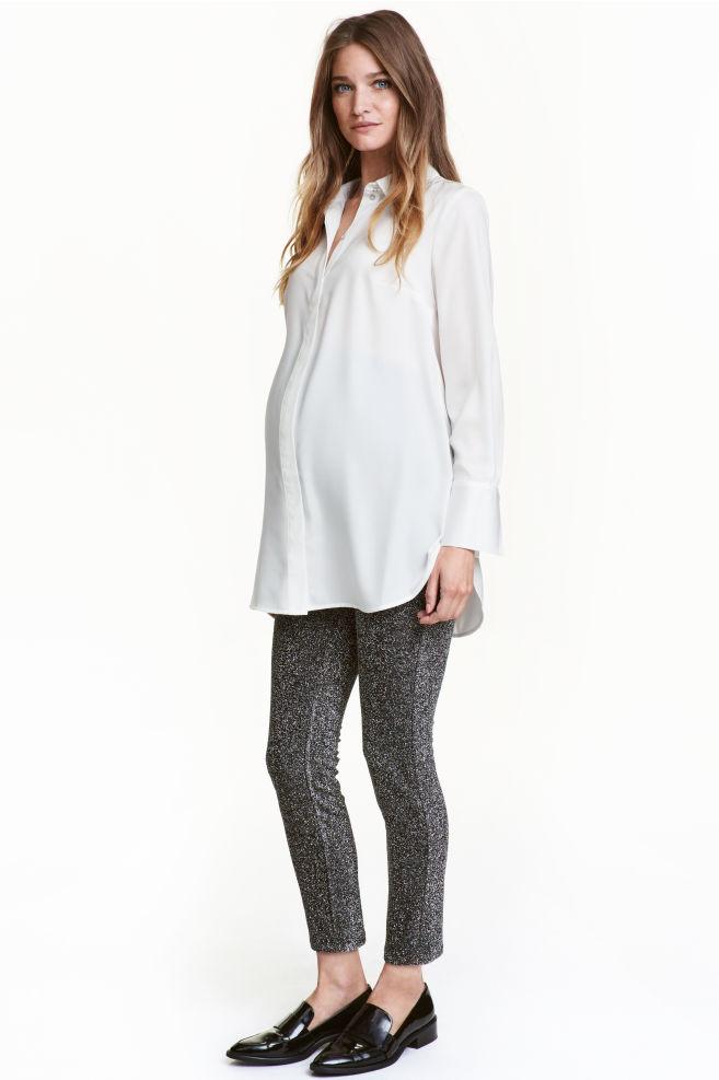 41f9d3ffde457 MAMA Glittery leggings - Black/Silver - Ladies | H&M ...