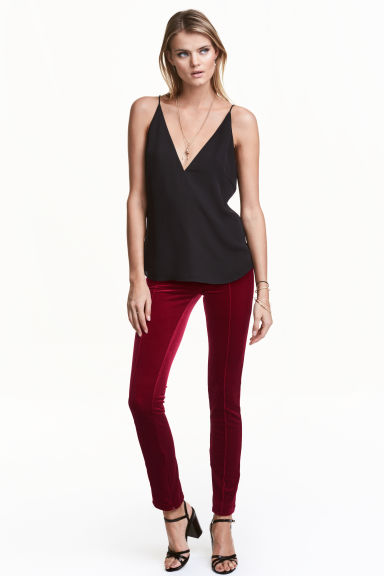Pantaloni in velluto - Rosso scuro - DONNA | H&M IT