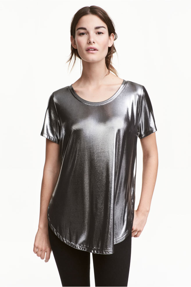0244ac0ca4 MAMA Bevonatos szoptatós felső - Ezüst - NŐI   H&M ...