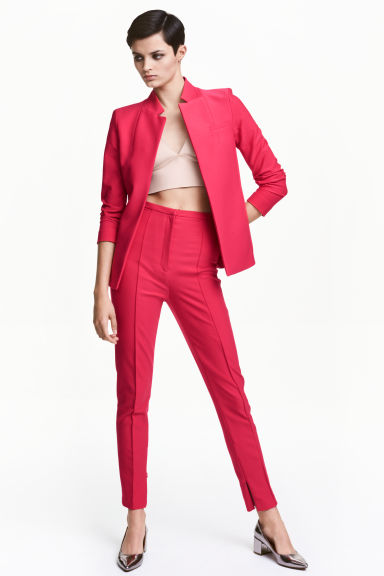 Trousers with creases - Neon pink - Ladies | H&M GB