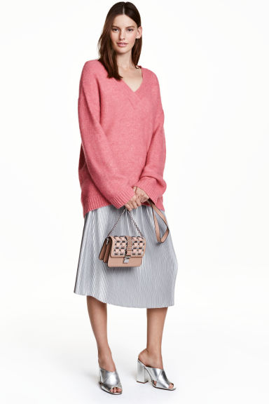 Pleated skirt - Silver - Ladies | H&M GB